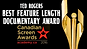 Canadian screen Awards 2016Ted Rogers Feature Lenght Documentary Award Winner