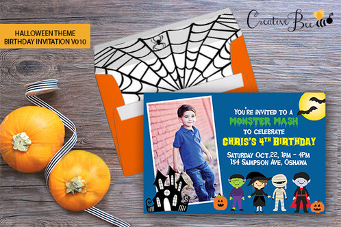 What A Great Way To Celebrate Birthday With These Halloween Themed Invitations Various Design Options Available Click Through Images Or You