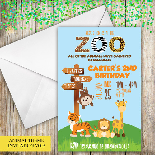 Calling All Party Animals These Animal Themed Invitations Are The Perfect To Go With Your