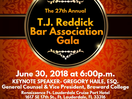 The TJ Reddick Bar Association 27th Annual Scholarship Gala