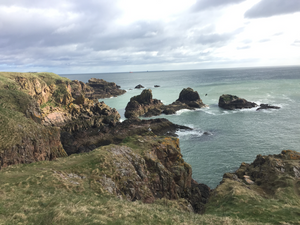 View from Slains Castle