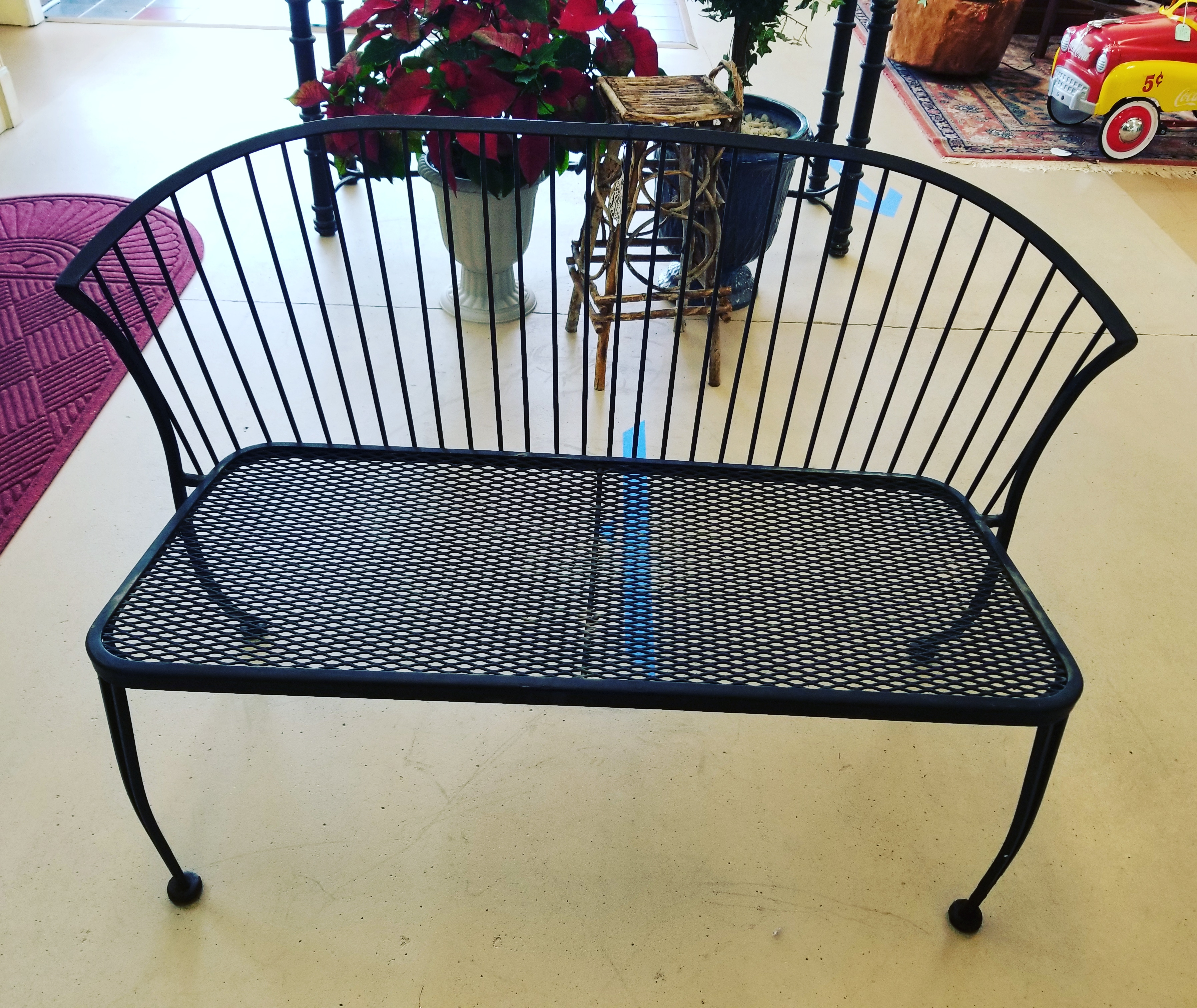 Wrought Iron Bench $185