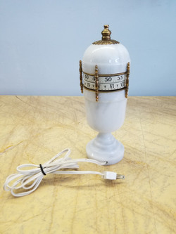 White Marble French Annular Dial Clock