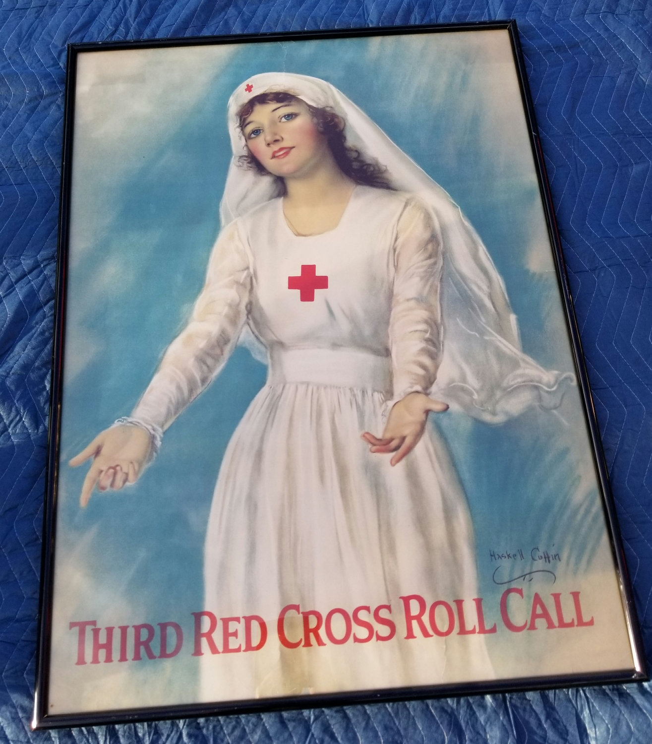 Original WWI Red Cross Poster, Clinton Store