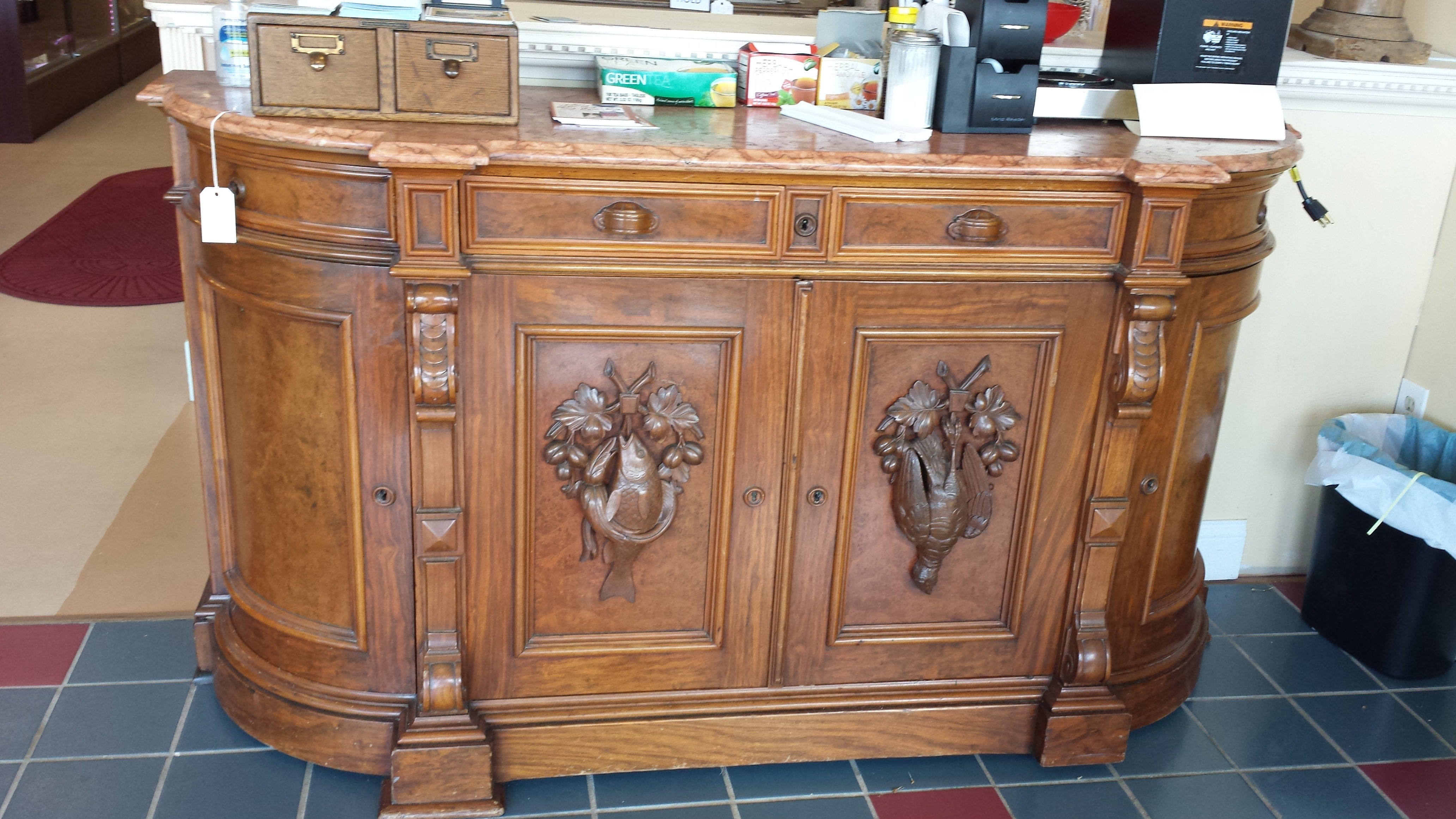 $1,550 Wood Carved Buffet