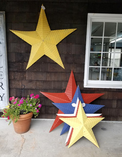Tin Stars from barn roof, at Clinton, CT