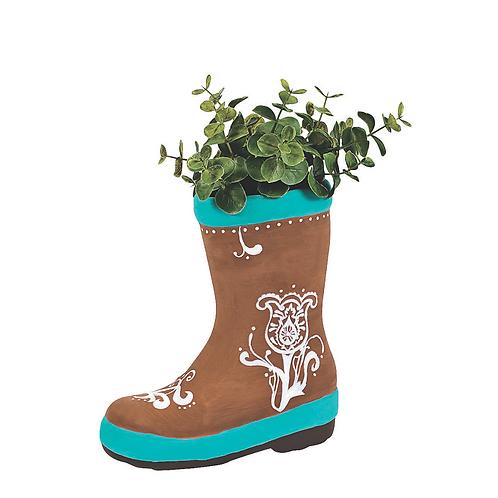 Ceramic Boot Paintable figurine Planter