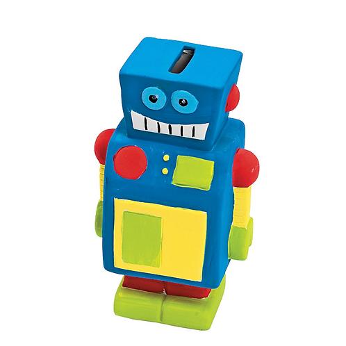Robot Ceramic Paintable figurine Money Box
