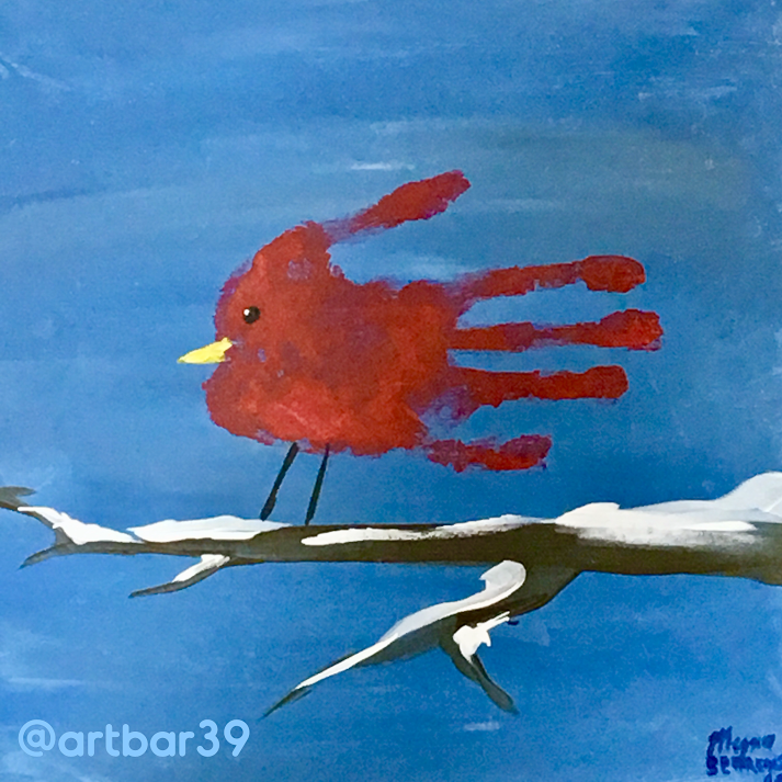 Toddler Handprint Cardinal
