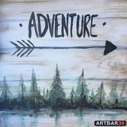 Adventure - on Wood panel
