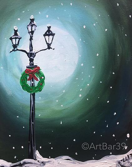 christmas lampost