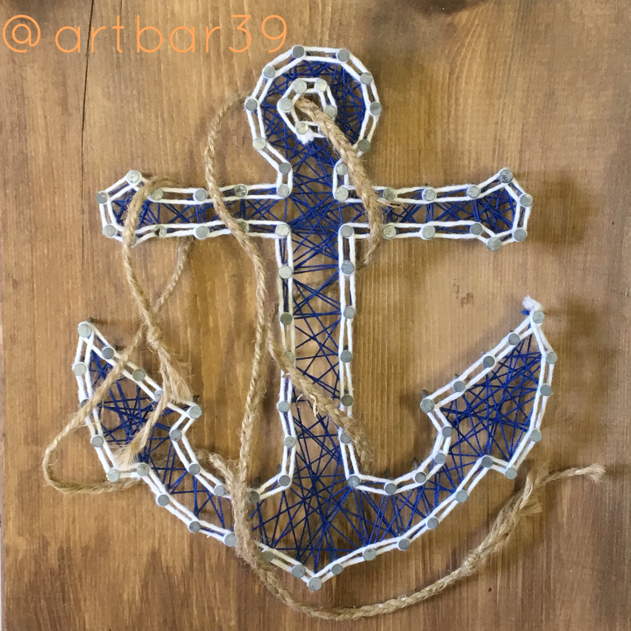 Anchor with Twine Rope String Art