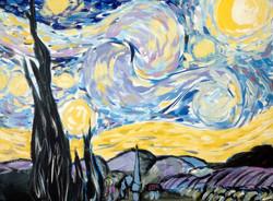 Starry Night after Van Gogh