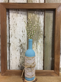 Wine bottle Teal - Spring Collection