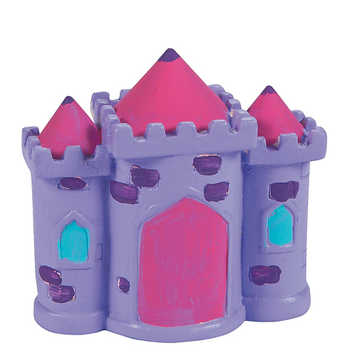 Ceramic Castle Paintable figurine Money Box