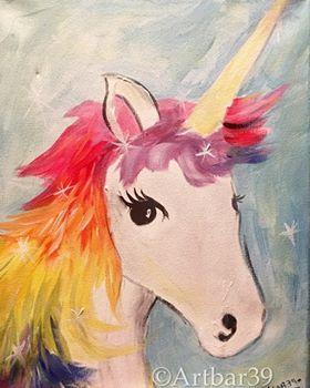 Rainbow Unicorn-Stencil offered