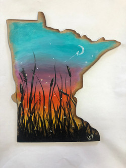 MN state cut out. - At Dusk