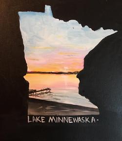 "MN State Name your Lake 11 x 14"""