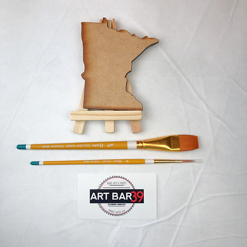 Mini MN State Wood Cut-out set