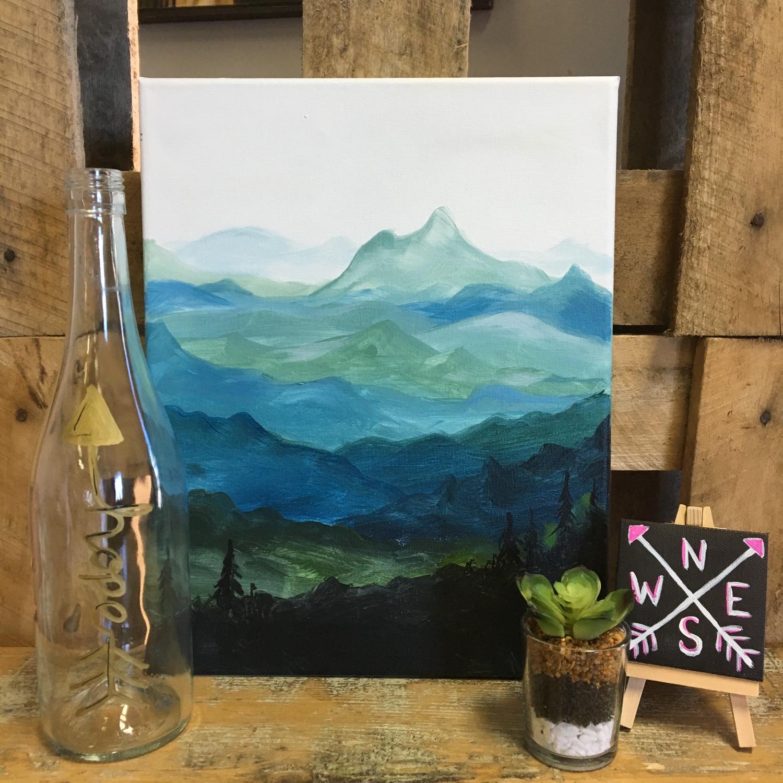 Mountain Views Painting