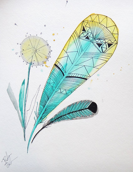 Feather and Dandelion