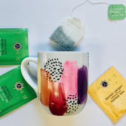mug painting - with tea display