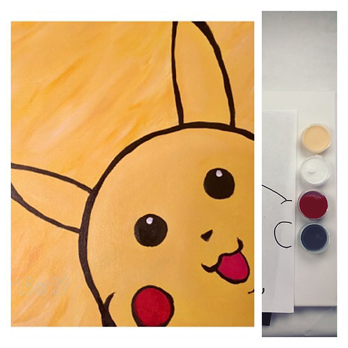 DIY painting kit - Pikachu -With Step by Step instructions