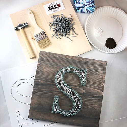 Custom COMPLETE String Art kit - Letter