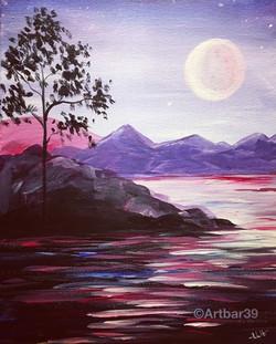 Purple Mystic Landscape