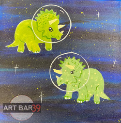 Triceratops in Space