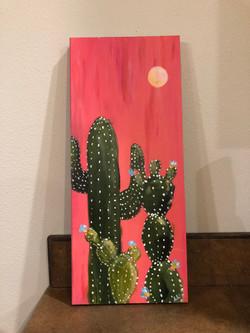 Cactus on Wood
