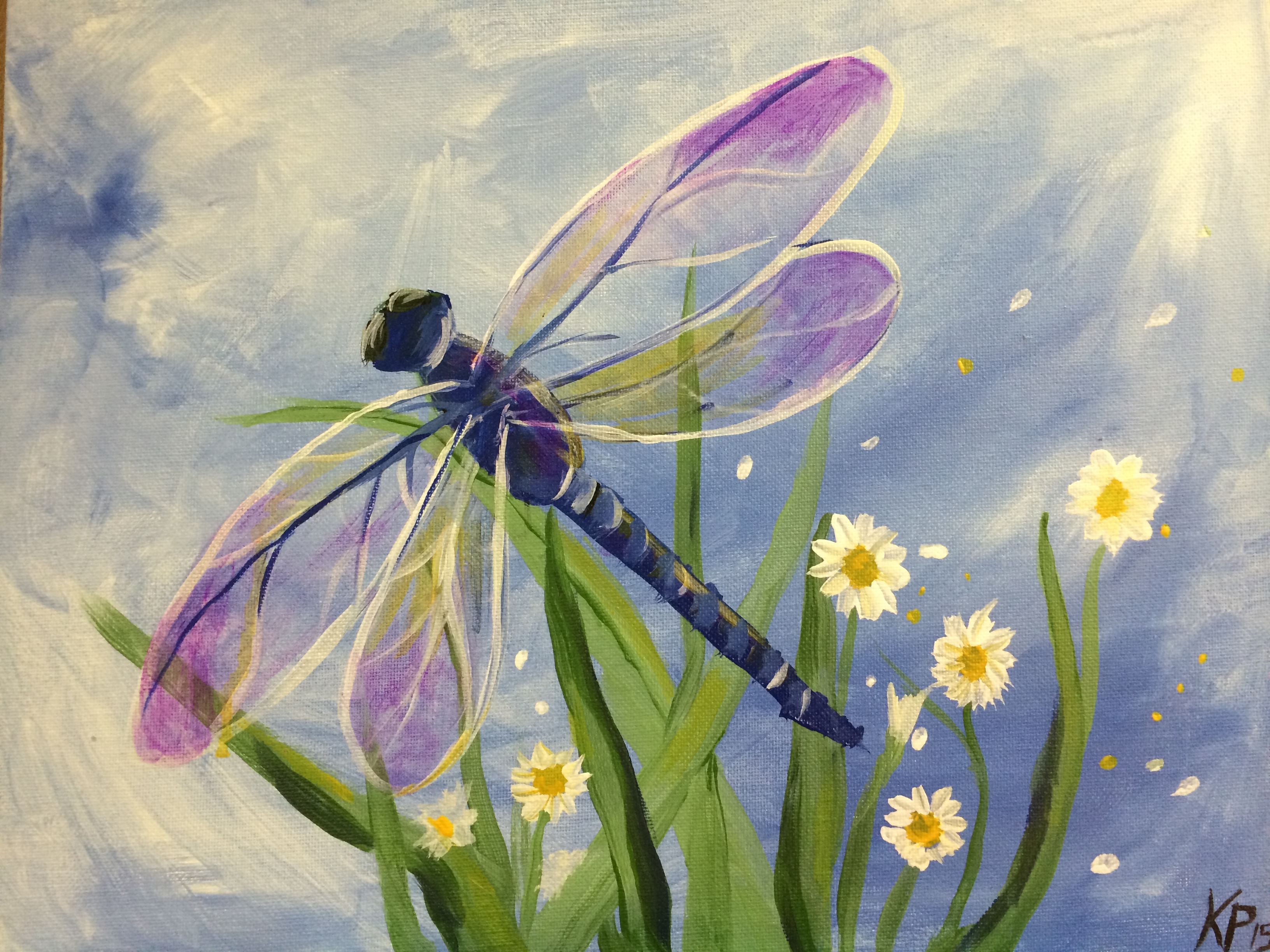 Dragonfly (purple wings)