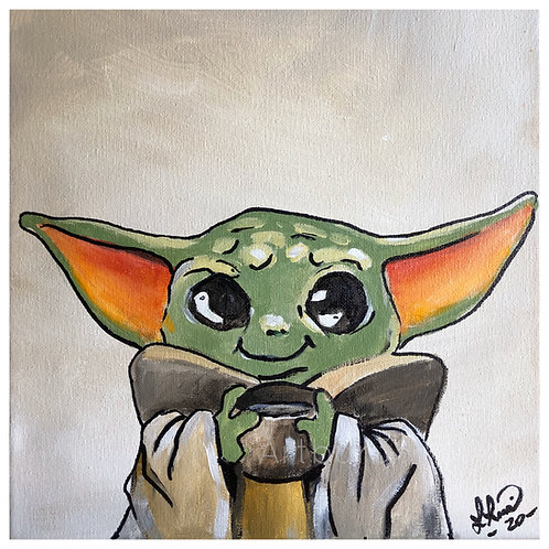 Baby Yoda DIY Painting kit - With Step by Step instructions