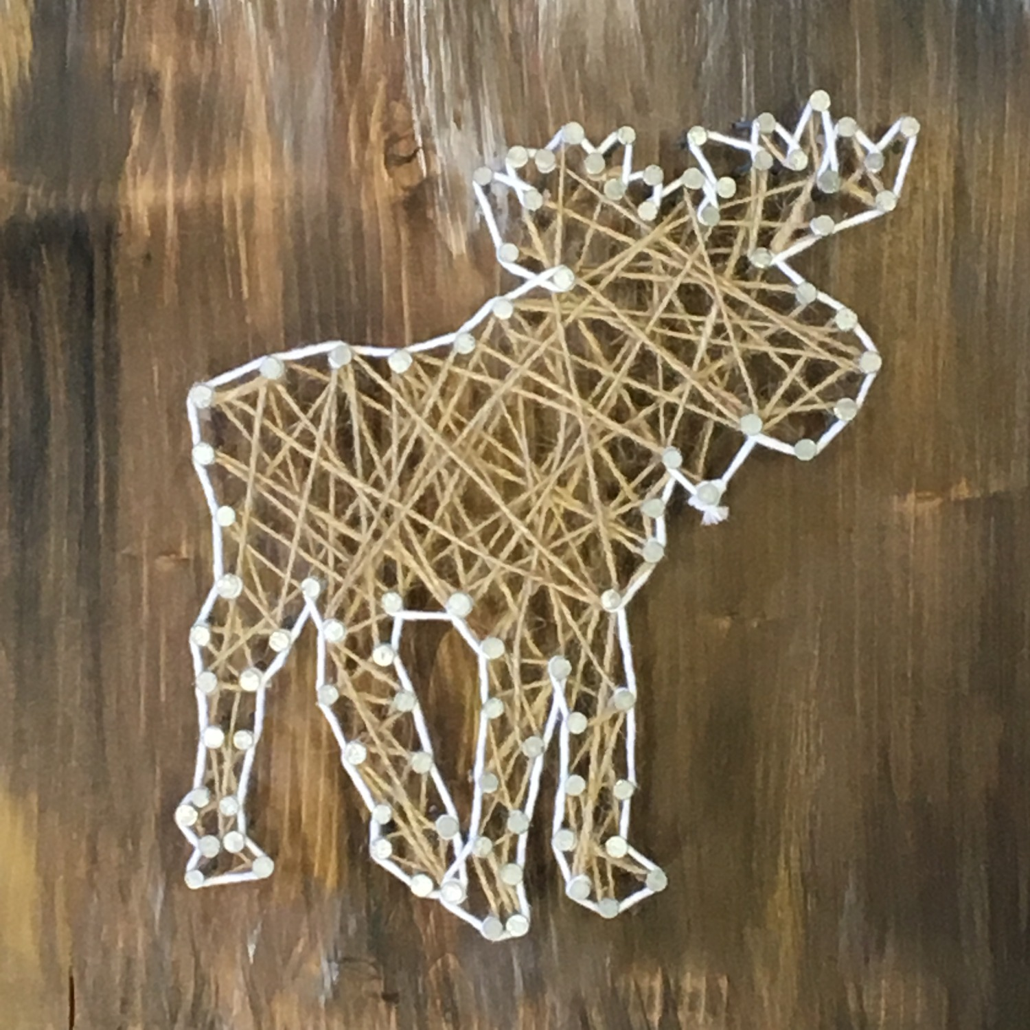 Moose String Art