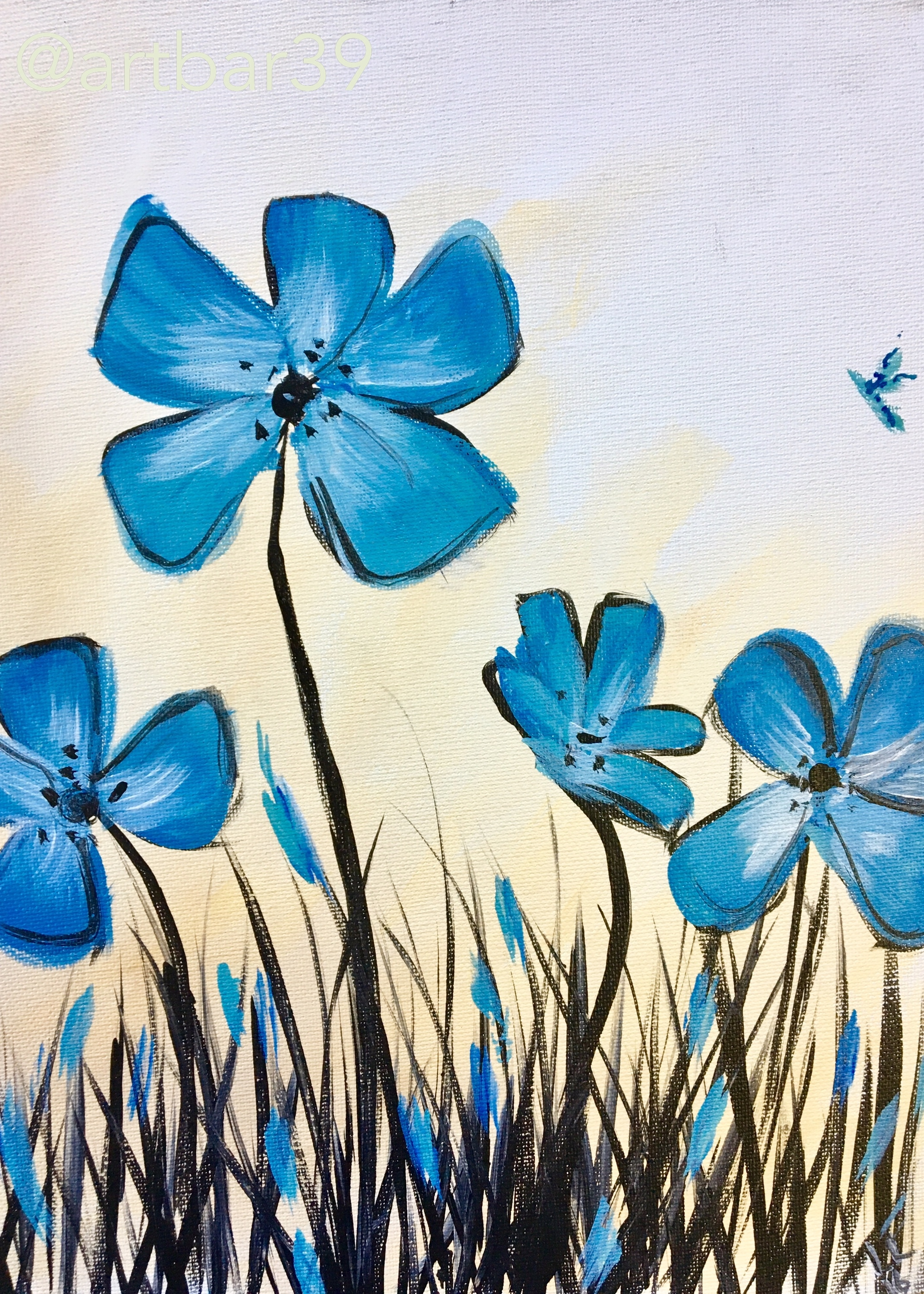 Blue Grass Flowers