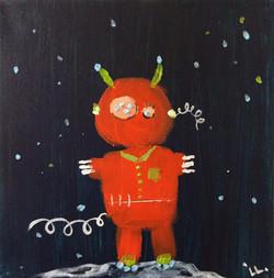 little orange monster/robot