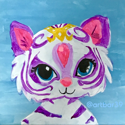 Nahal- Shimmer and Shine - w stencil