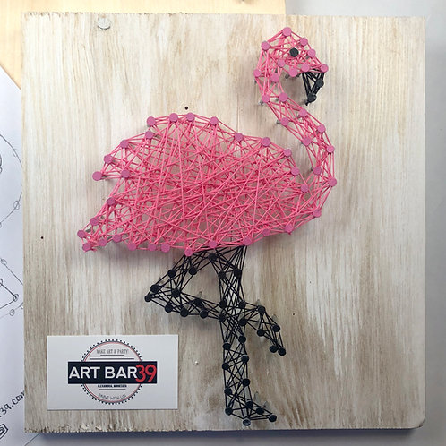 Custom String Art kit - Flamingo - Without Hammer