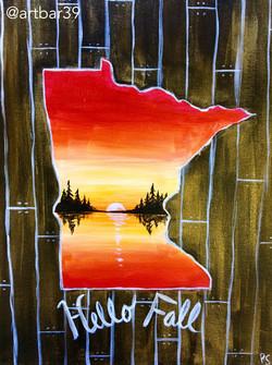 MN State Shape - Hello Fall