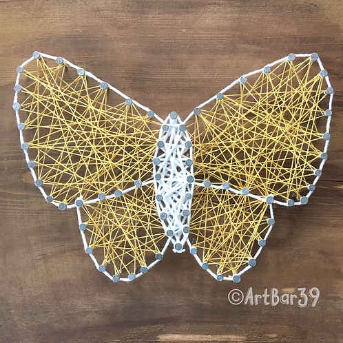 Custom String Art kit  - butterfly  - Choose your Colors - Without Hammer