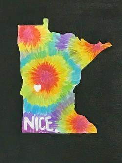 MN State Shape Tie Dye