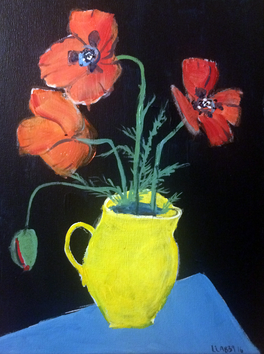 Poppies in a Yellow Jug sml - after Foujita .jpg