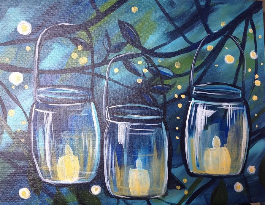 Fireflies w Mason Jars