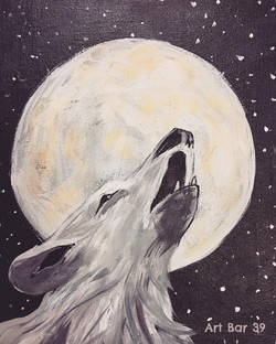 Howling to the Moon -Stencil offered