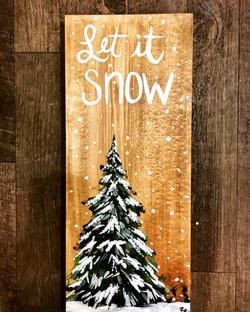 Let it Snow Pine Tree