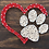 Thumbnail: Custom String Art kit - Paw & Heart - Without Hammer