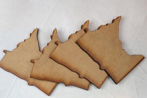 Mini MN State Wood Cut-out set of 4