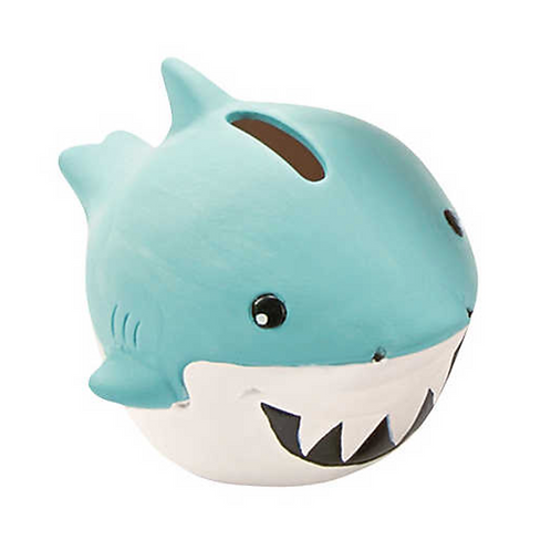 Ceramic Shark Paintable figurine Money Box