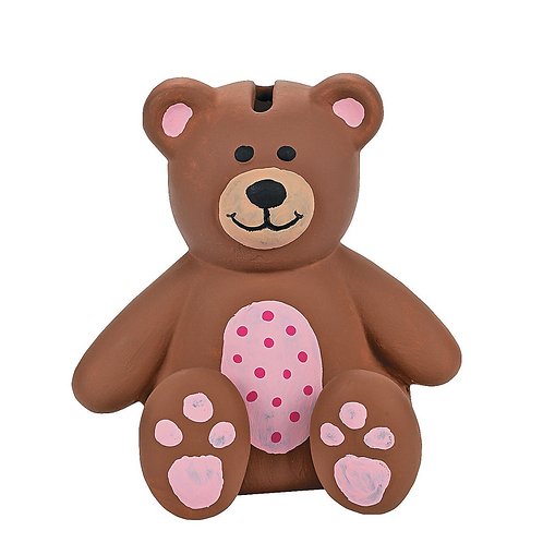 Ceramic Teddy Bear Paintable figurine Money Box