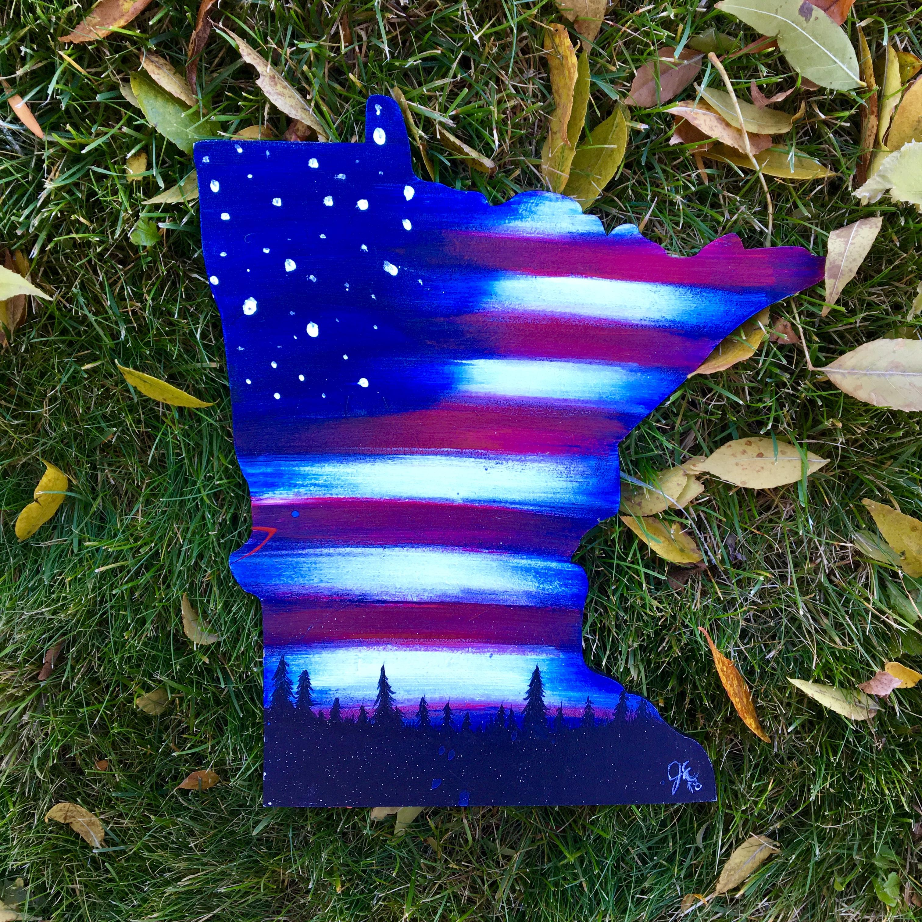 Patriotic Woods on MN shape